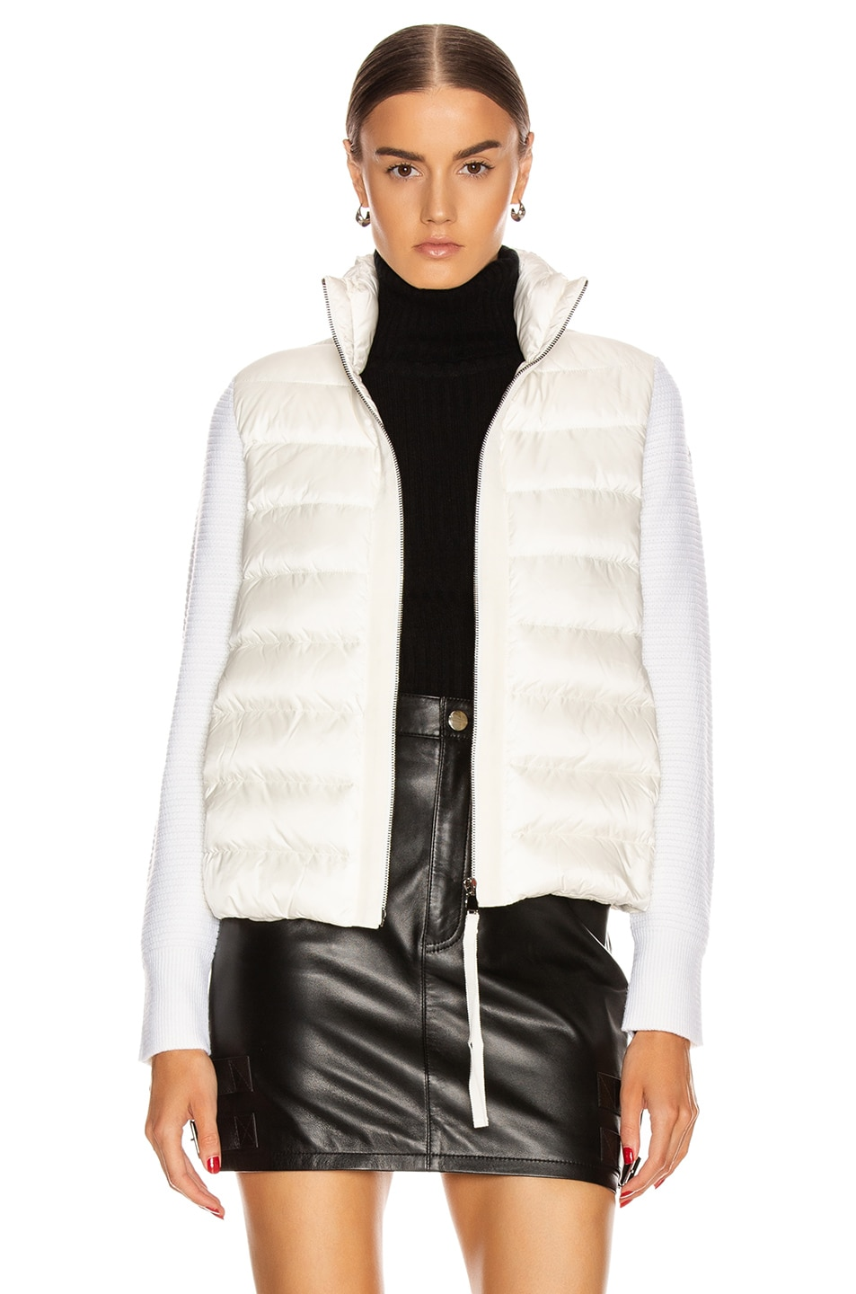 Image 1 of Moncler Tricot Cardigan in White