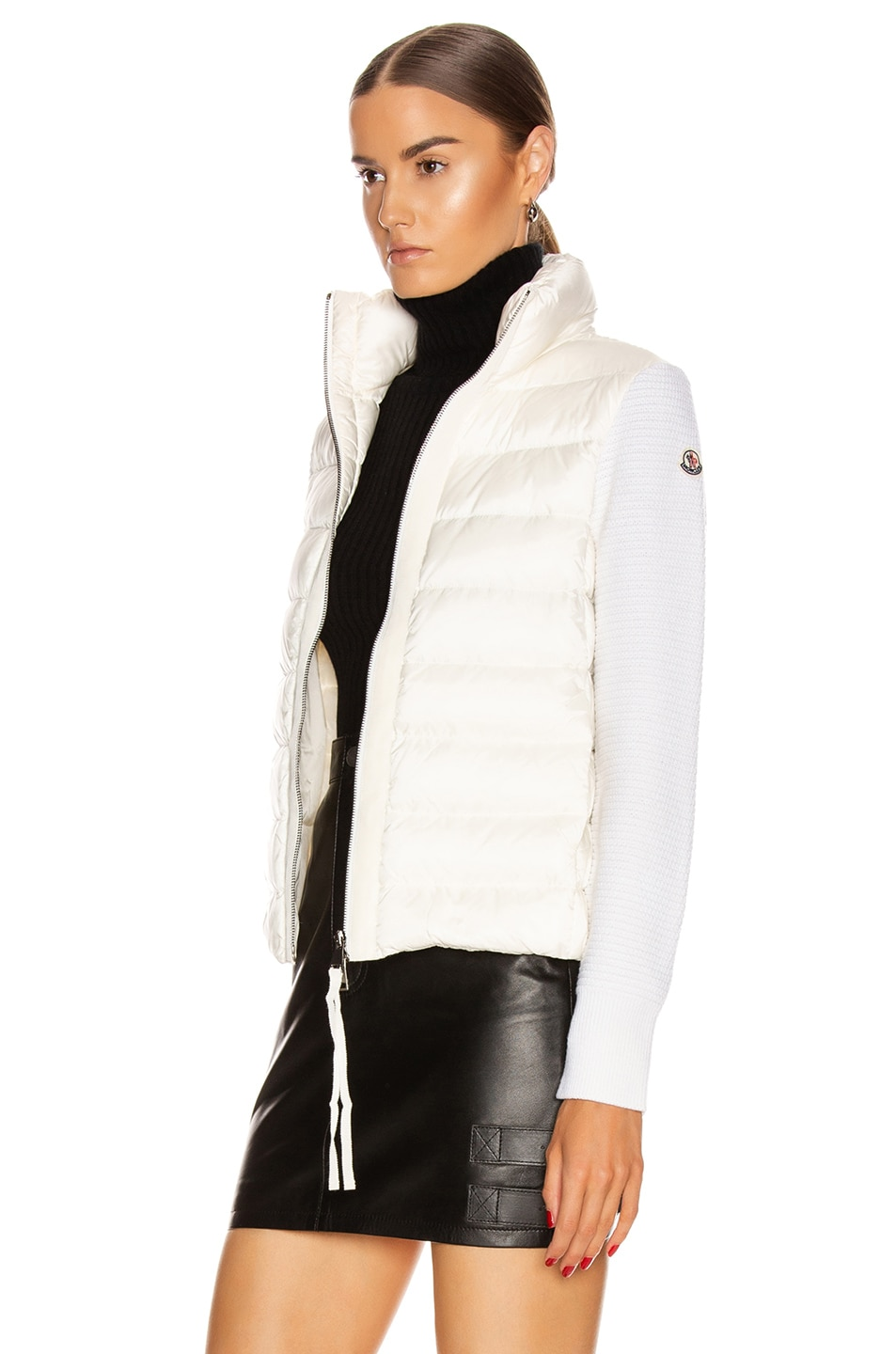 Image 4 of Moncler Tricot Cardigan in White