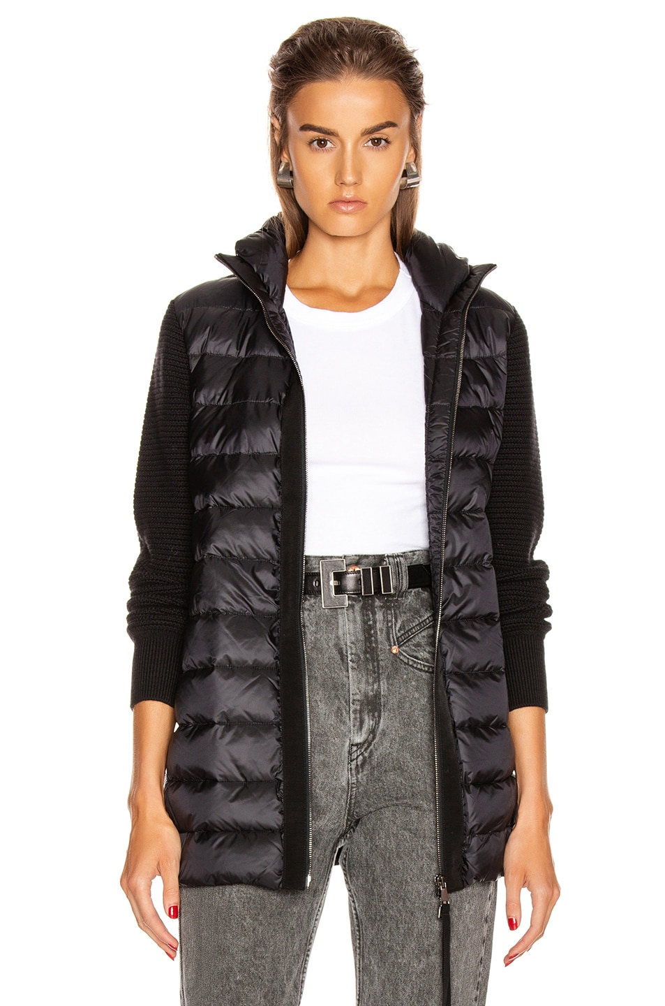 Image 1 of Moncler Tricot Mid Cardigan in Black