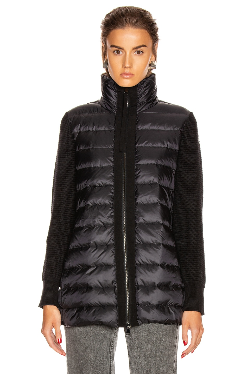 Image 2 of Moncler Tricot Mid Cardigan in Black