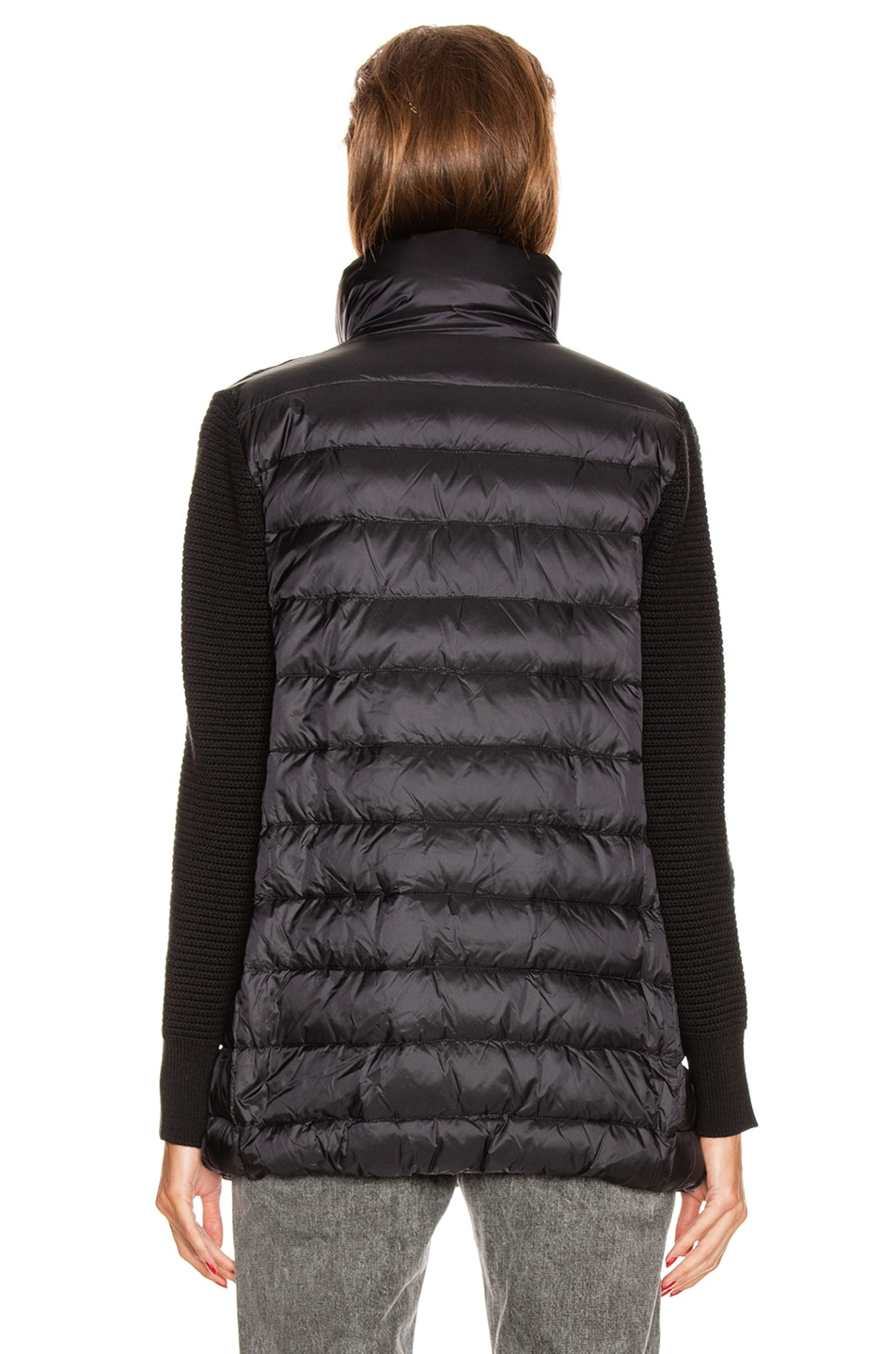 Image 5 of Moncler Tricot Mid Cardigan in Black