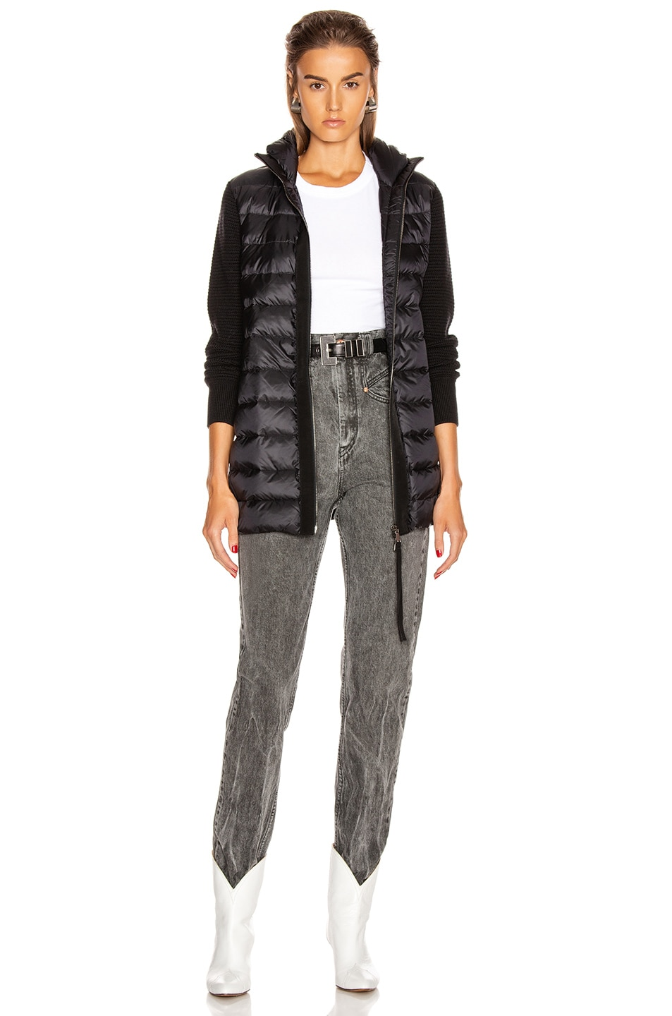 Image 6 of Moncler Tricot Mid Cardigan in Black