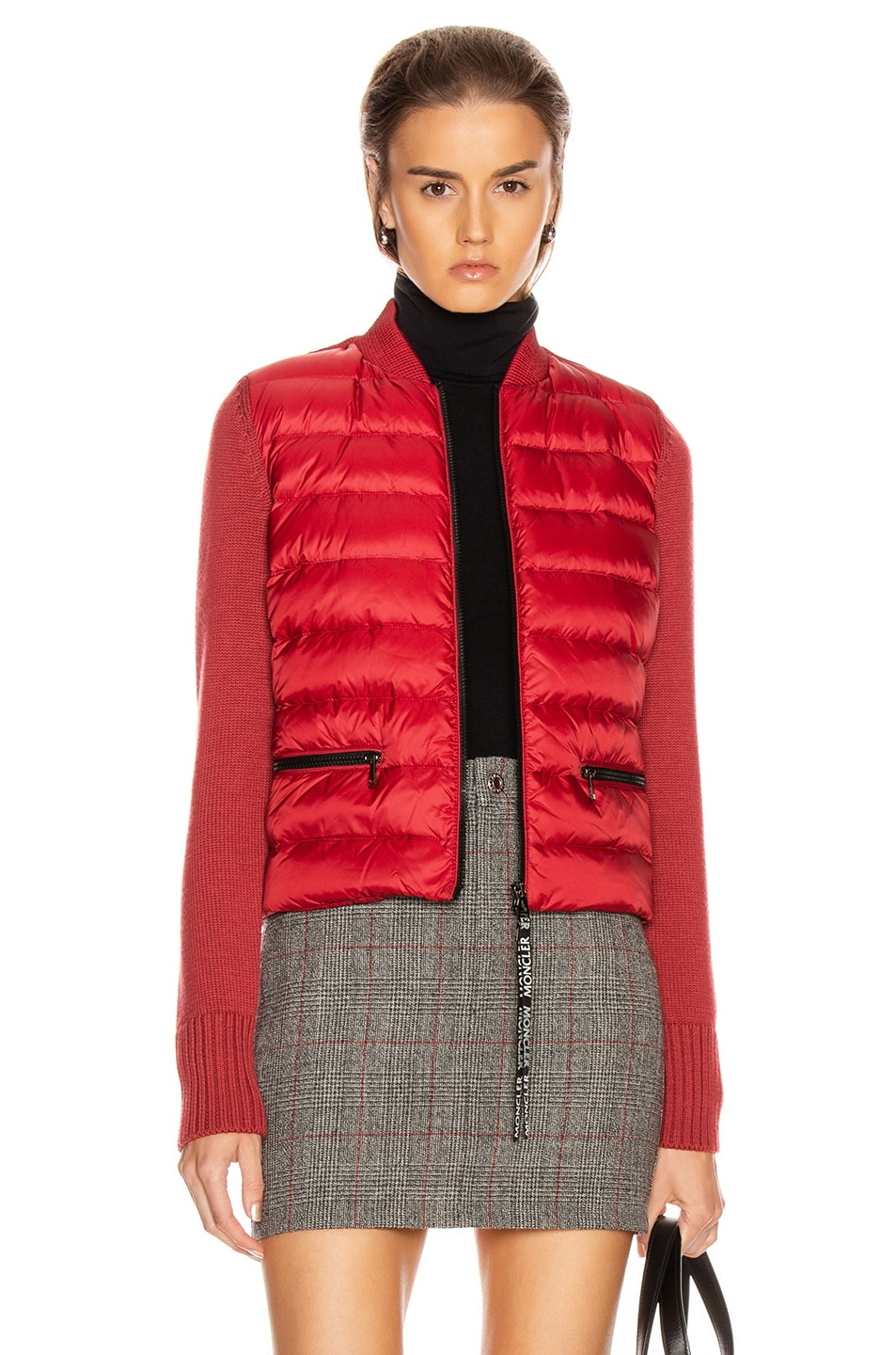 Image 1 of Moncler Tricot Cardigan in Crimson