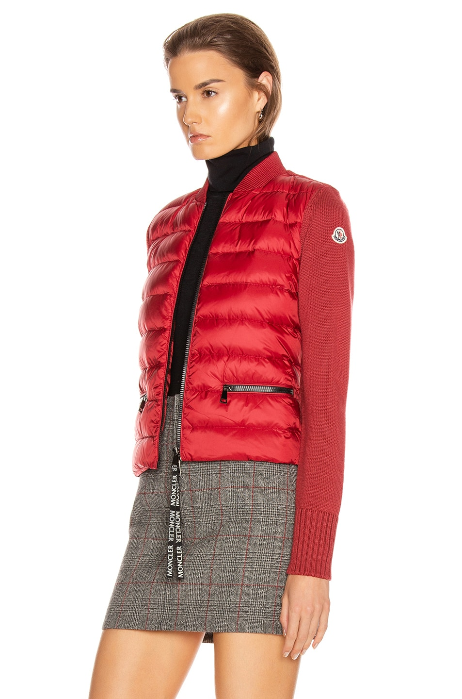 Image 4 of Moncler Tricot Cardigan in Crimson