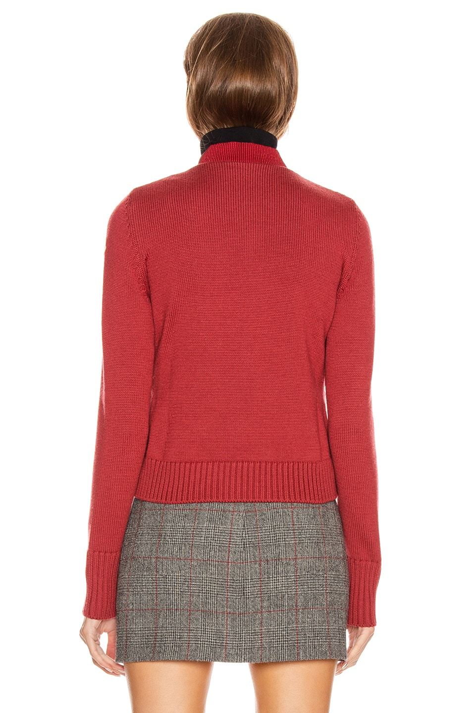 Image 5 of Moncler Tricot Cardigan in Crimson