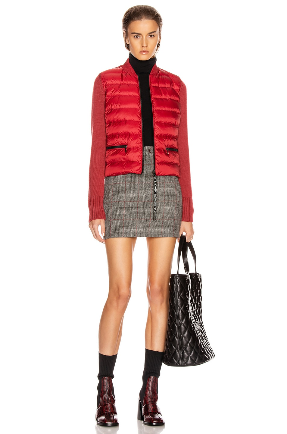 Image 6 of Moncler Tricot Cardigan in Crimson