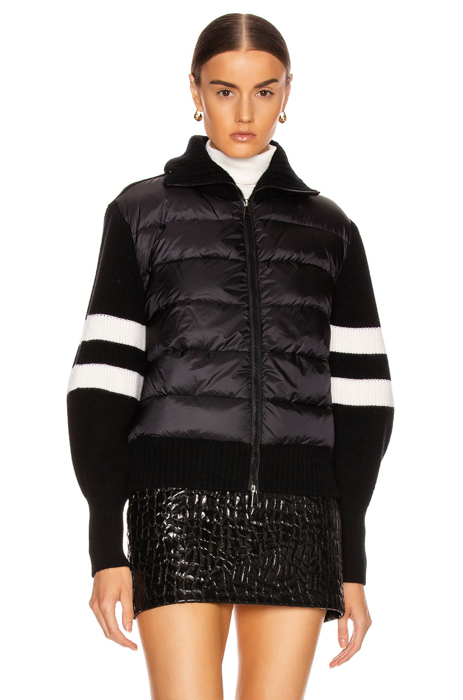 Image 2 of Moncler Tricot Cardigan in Black
