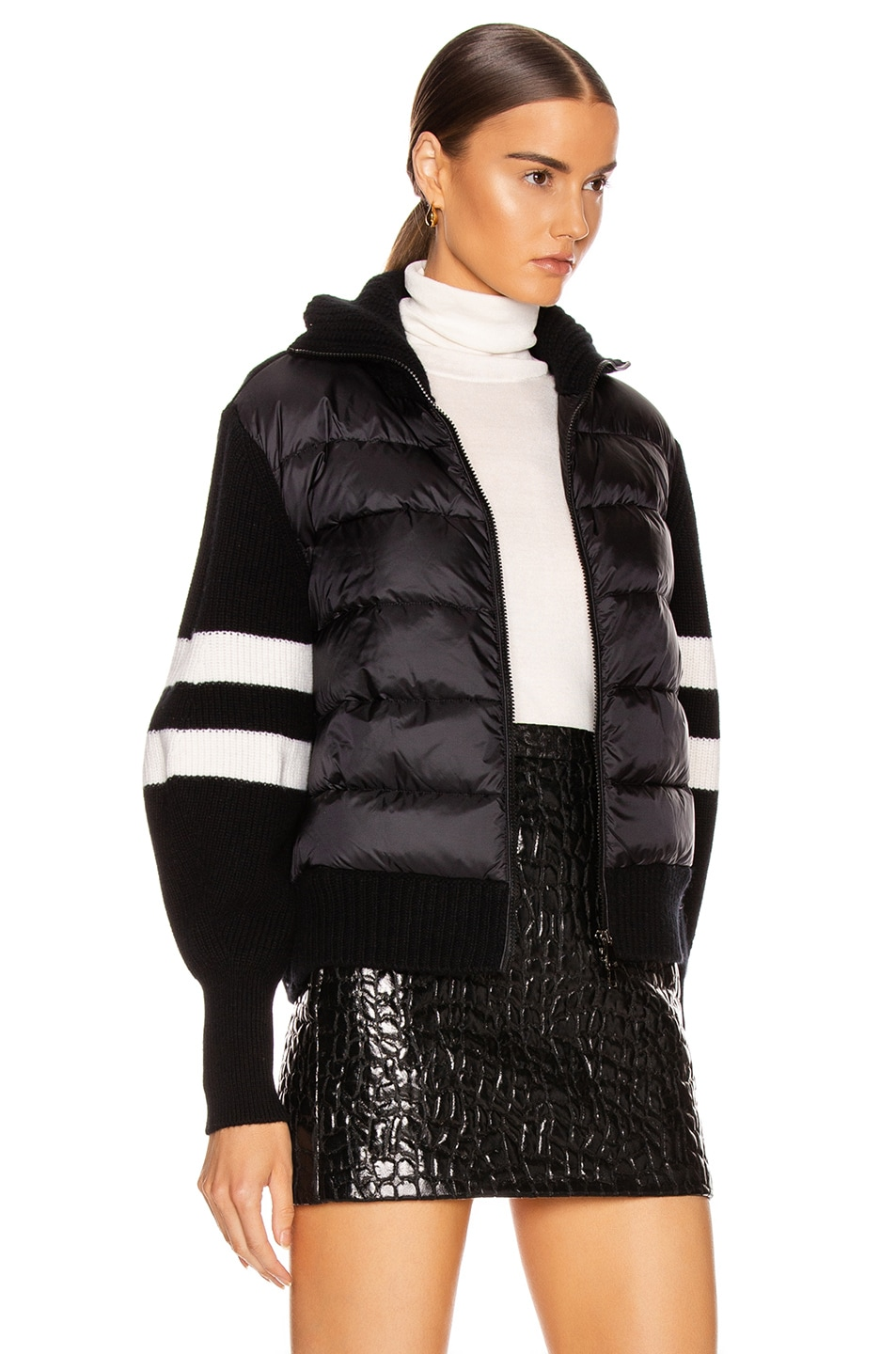 Image 3 of Moncler Tricot Cardigan in Black
