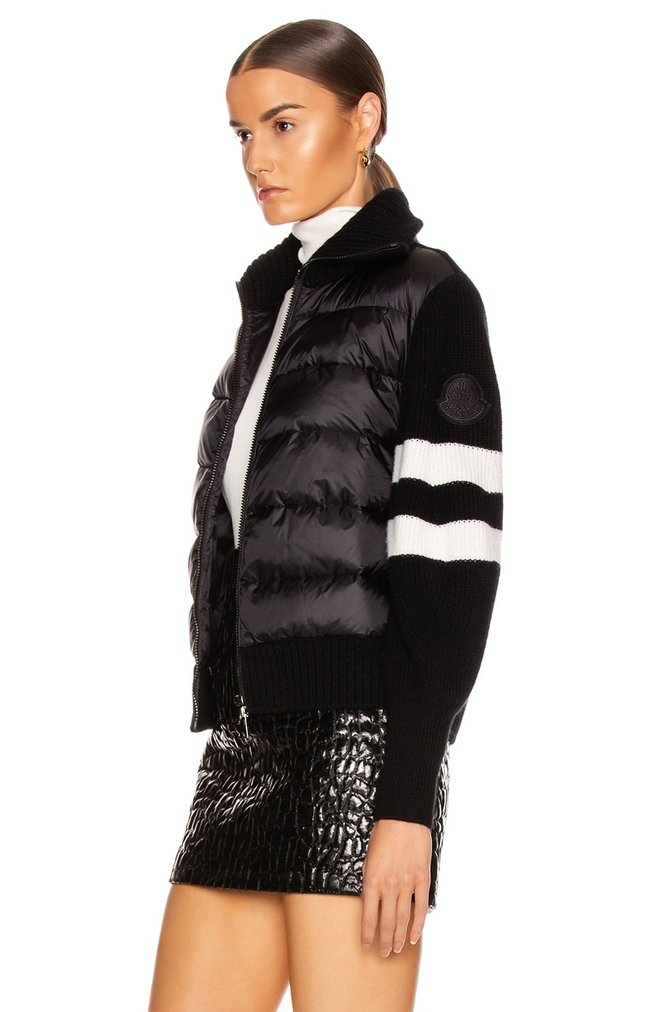 Image 4 of Moncler Tricot Cardigan in Black