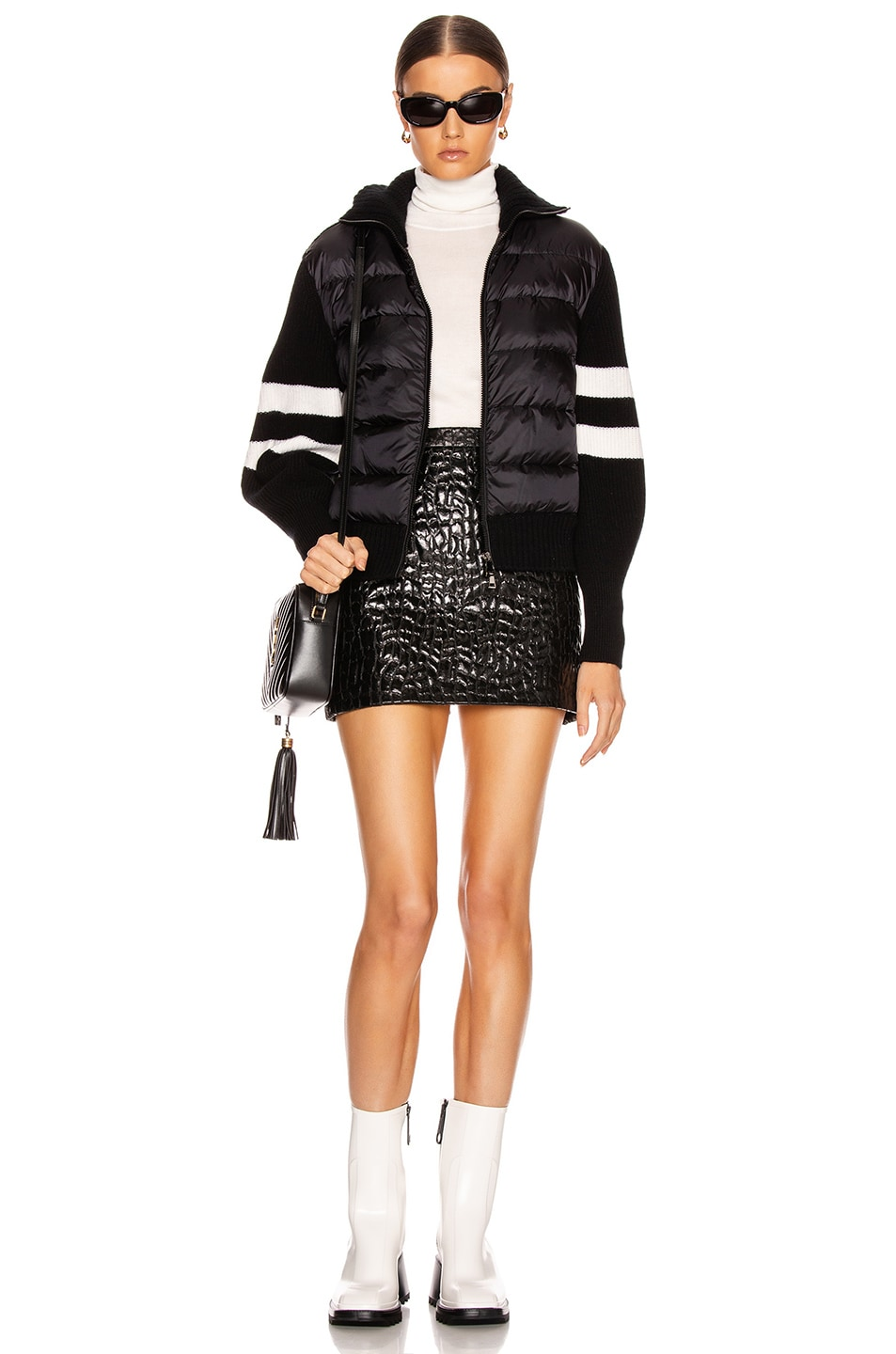 Image 6 of Moncler Tricot Cardigan in Black