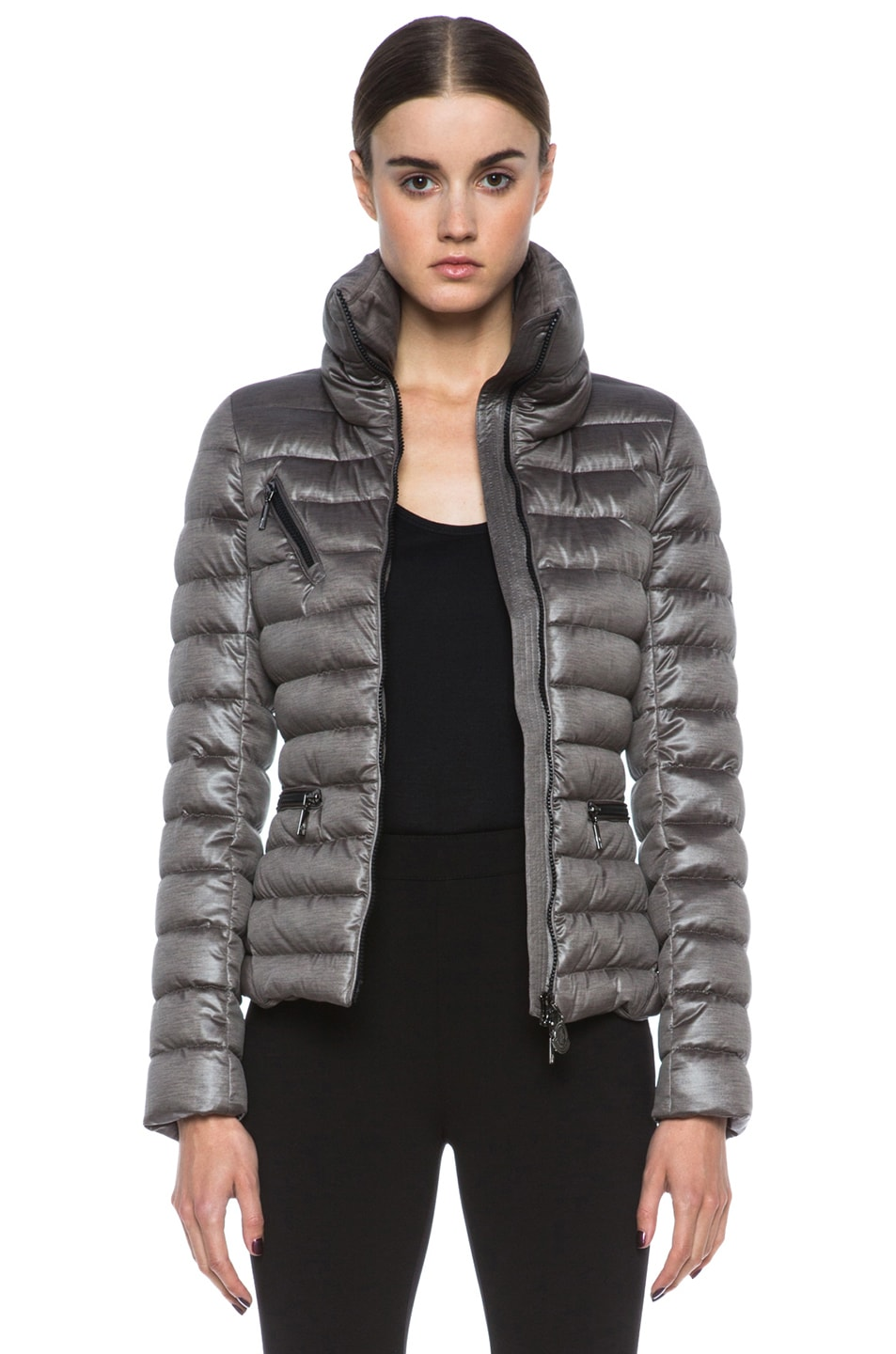 Image 1 of MONCLER Suisse Poly Jacket in Taupe
