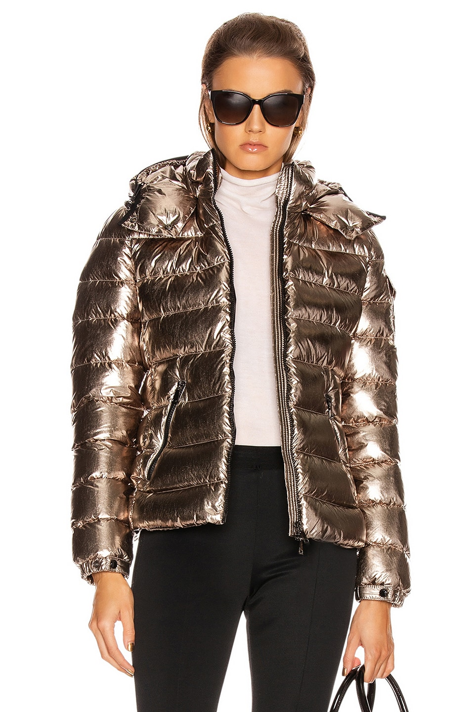 Image 1 of Moncler Bady Jacket in Gold Metallic