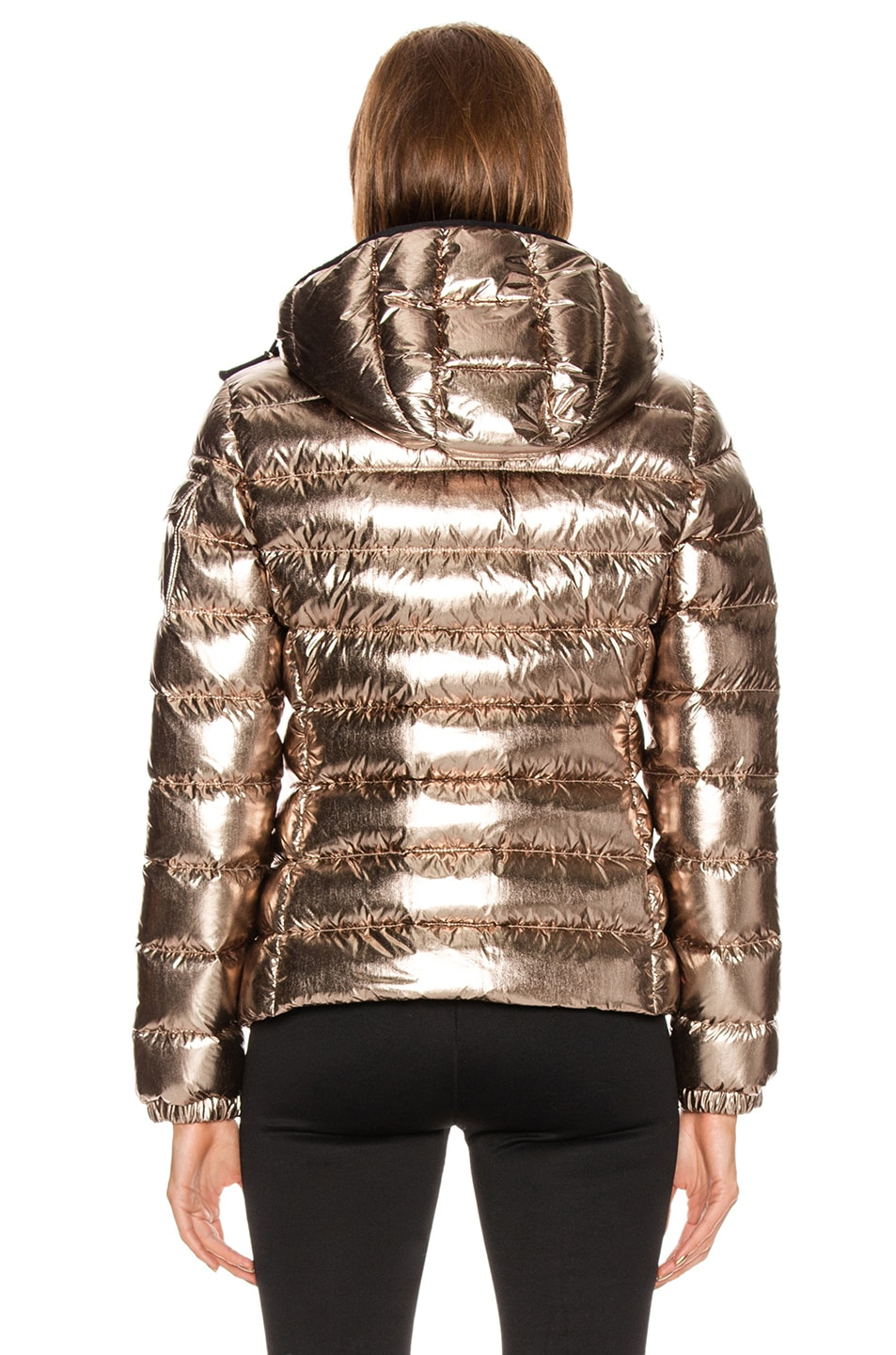 Image 4 of Moncler Bady Jacket in Gold Metallic