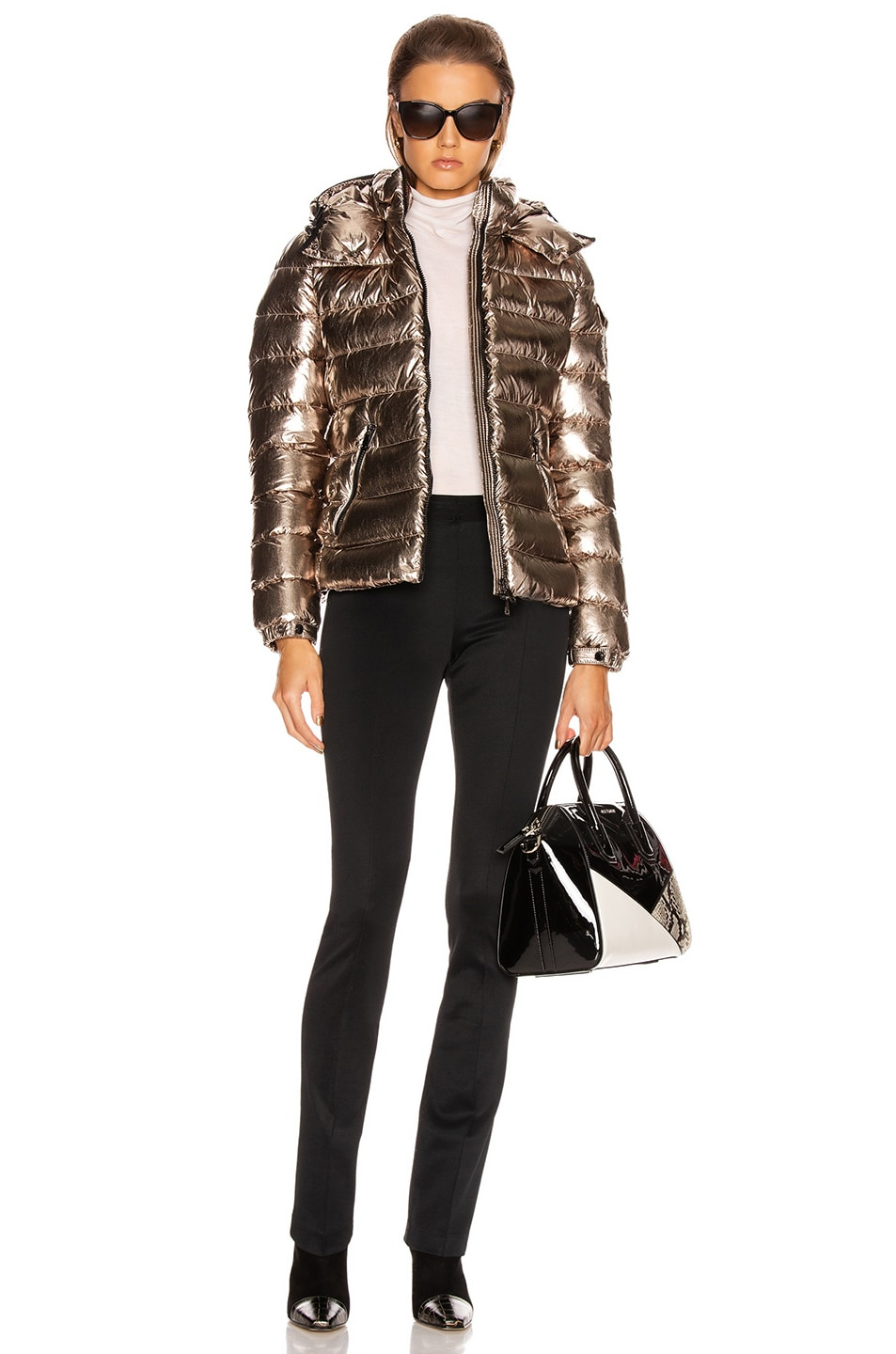 Image 5 of Moncler Bady Jacket in Gold Metallic