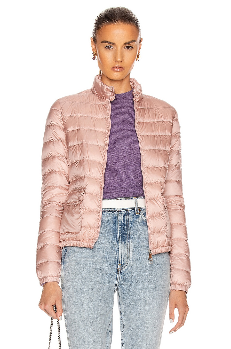 Image 1 of Moncler Lans Giubbotto Jacket in Blush