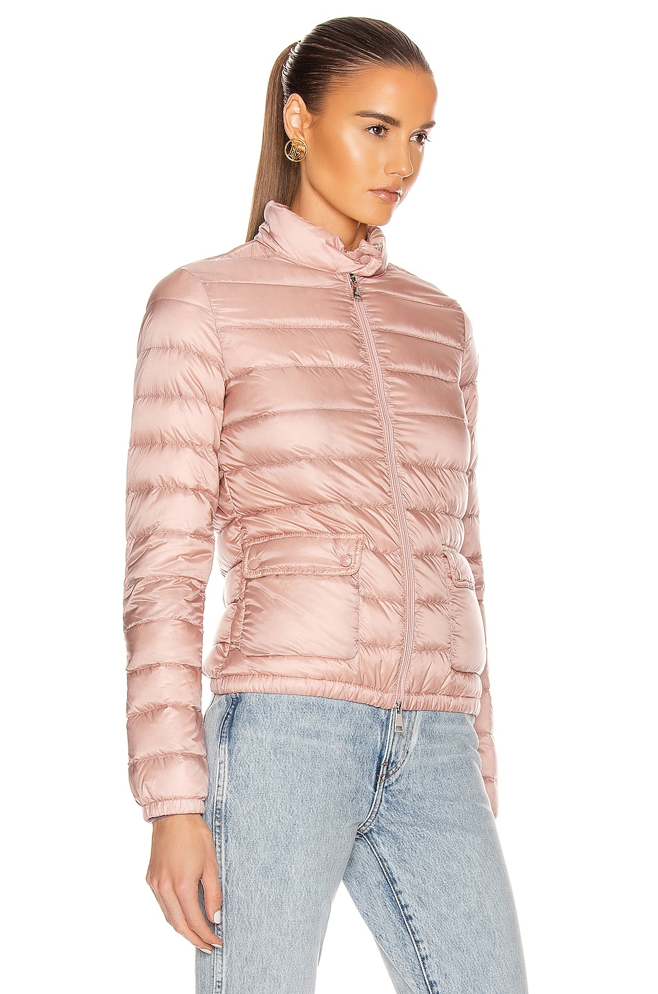 Image 3 of Moncler Lans Giubbotto Jacket in Blush