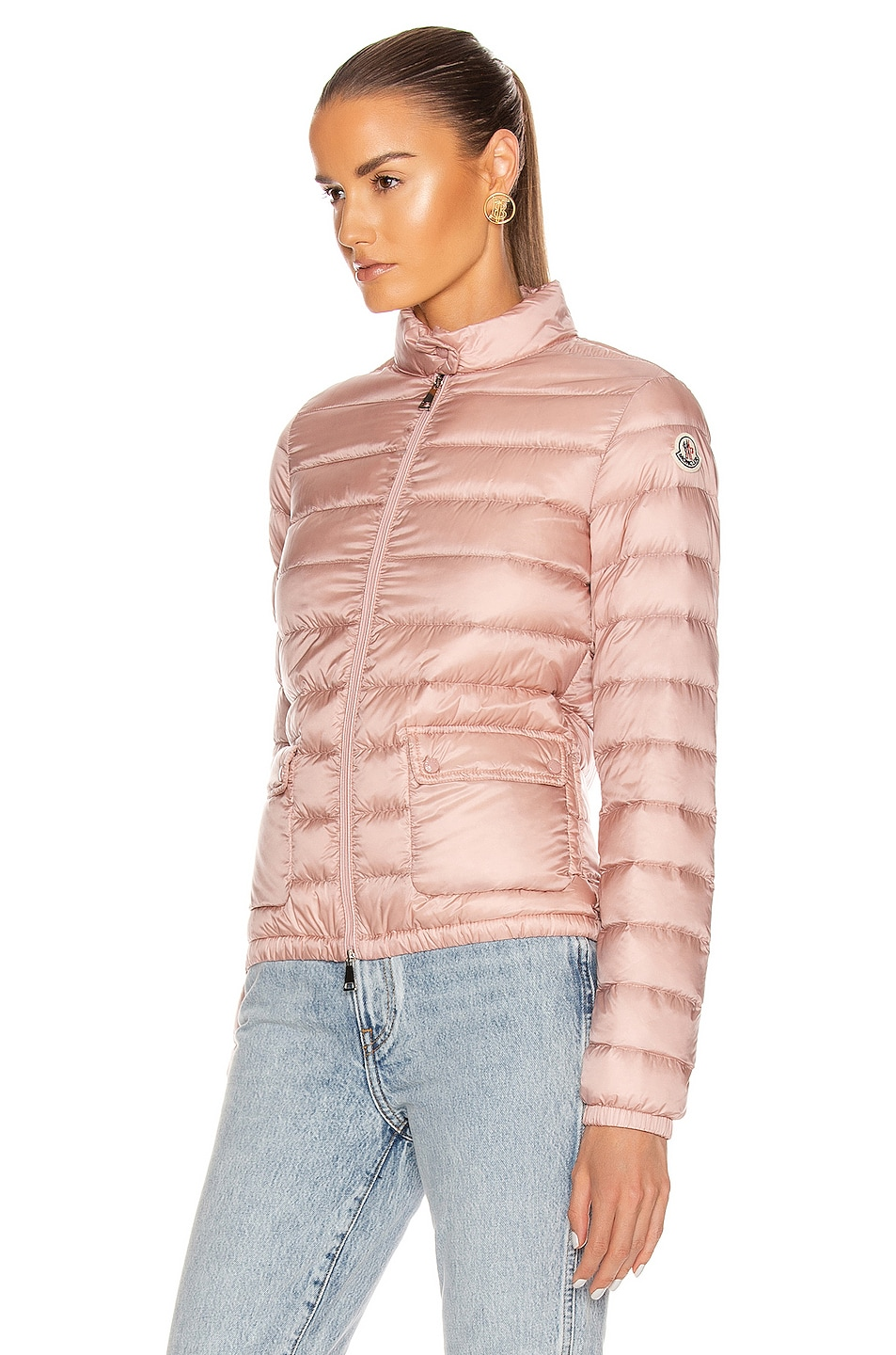 Image 4 of Moncler Lans Giubbotto Jacket in Blush