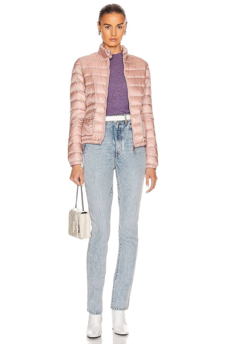 Image 6 of Moncler Lans Giubbotto Jacket in Blush