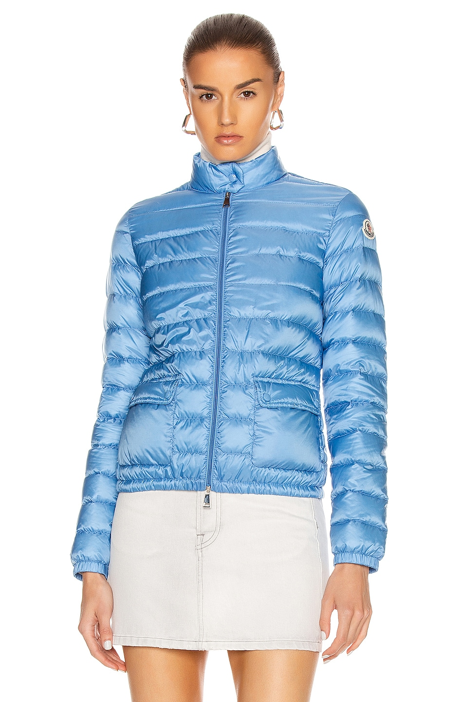 Image 2 of Moncler Lans Giubbotto Jacket in Royal Blue