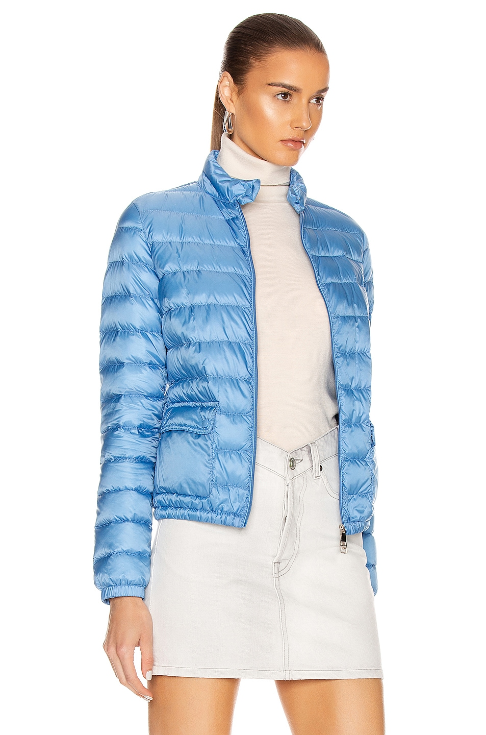 Image 3 of Moncler Lans Giubbotto Jacket in Royal Blue