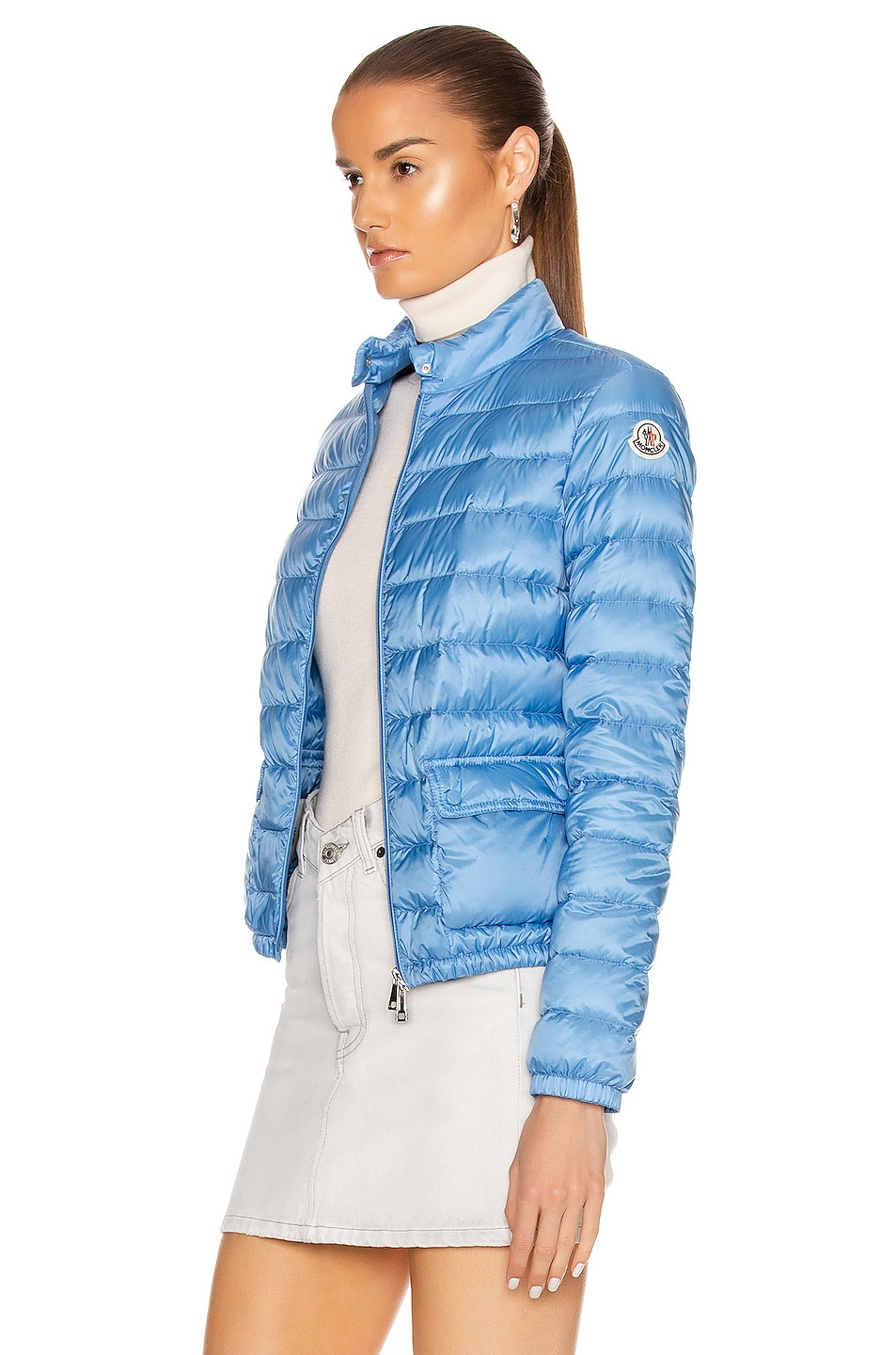 Image 4 of Moncler Lans Giubbotto Jacket in Royal Blue