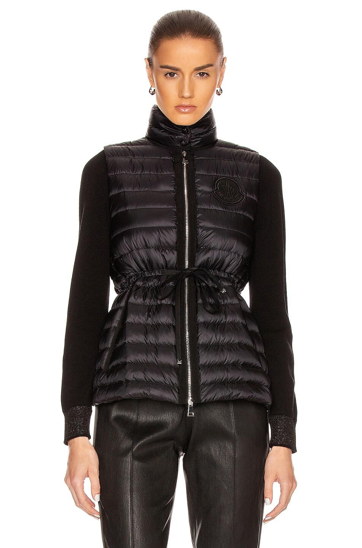 Image 2 of Moncler Azur Gilet Vest in Black