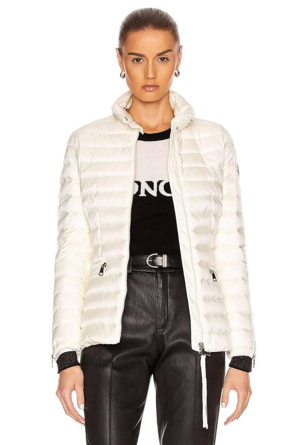 Image 1 of Moncler Safre Giubbotto Jacket in Ivory