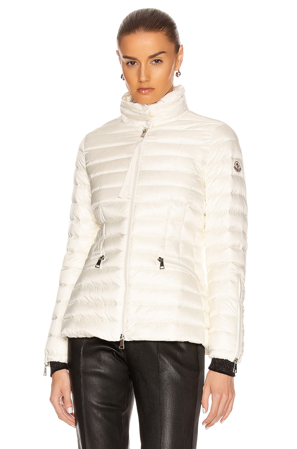 Image 2 of Moncler Safre Giubbotto Jacket in Ivory