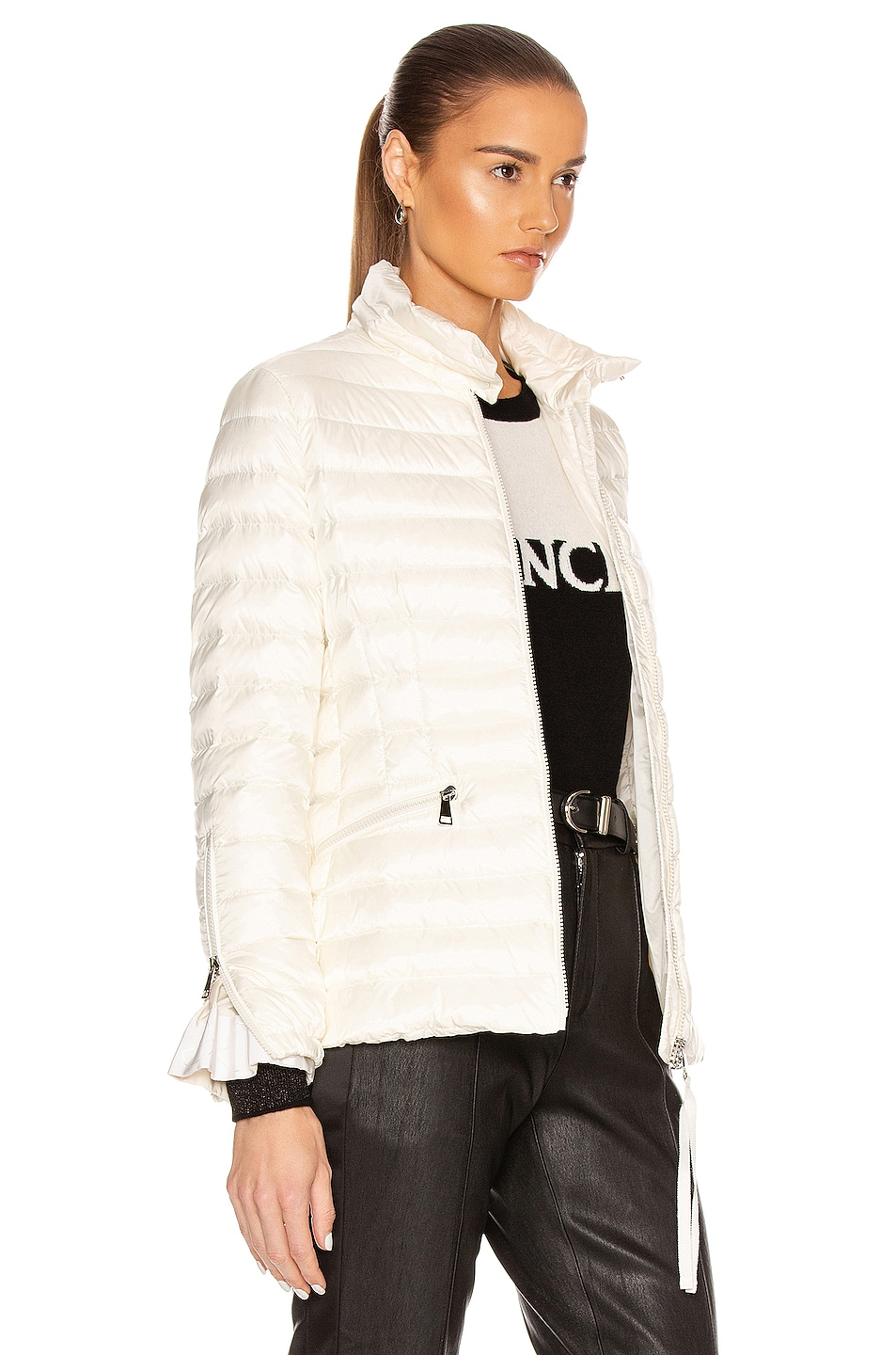 Image 3 of Moncler Safre Giubbotto Jacket in Ivory