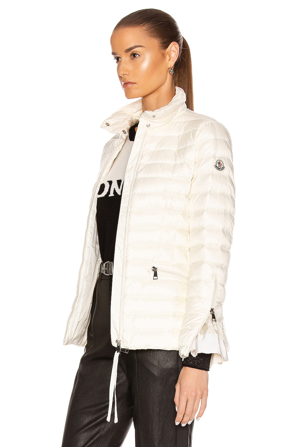 Image 4 of Moncler Safre Giubbotto Jacket in Ivory