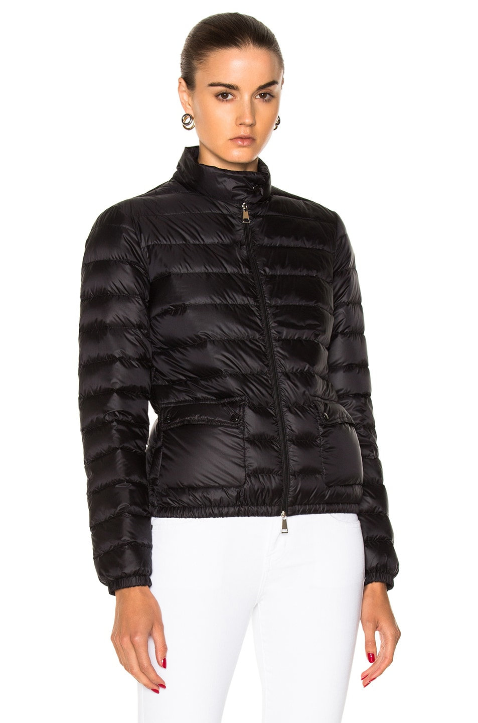 Image 2 of Moncler Lans Polyamide Jacket in Black