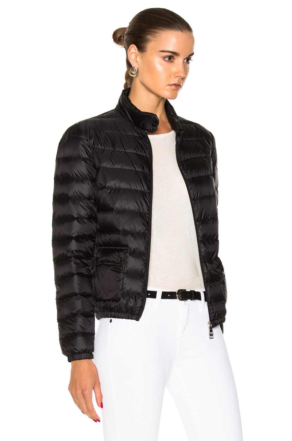 Image 4 of Moncler Lans Polyamide Jacket in Black