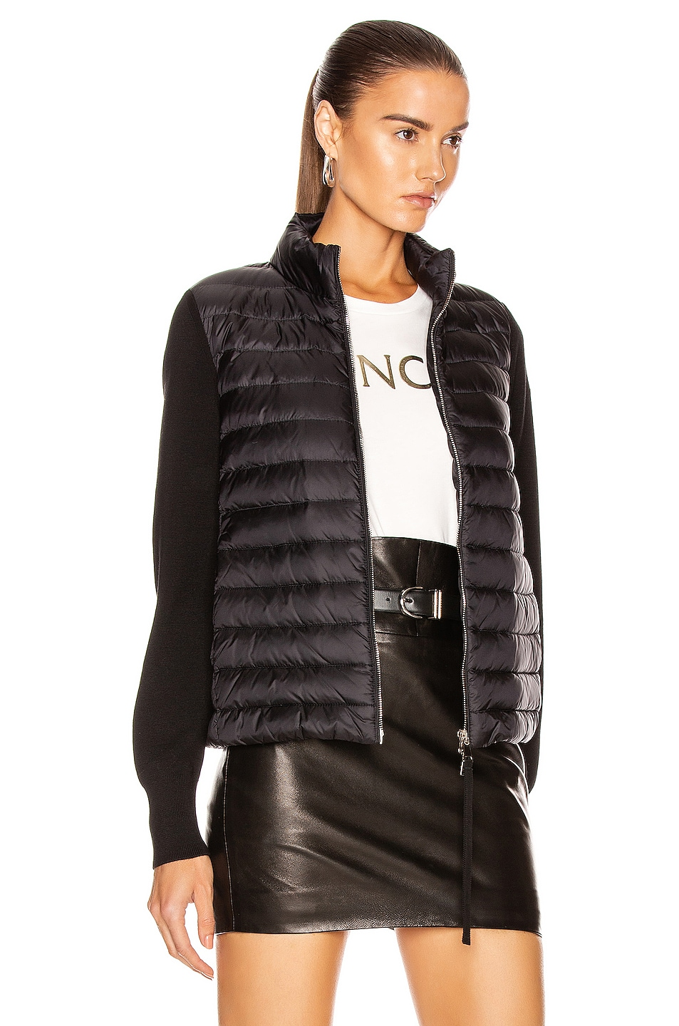 Image 3 of Moncler Cardigan Tricot Jacket in Black