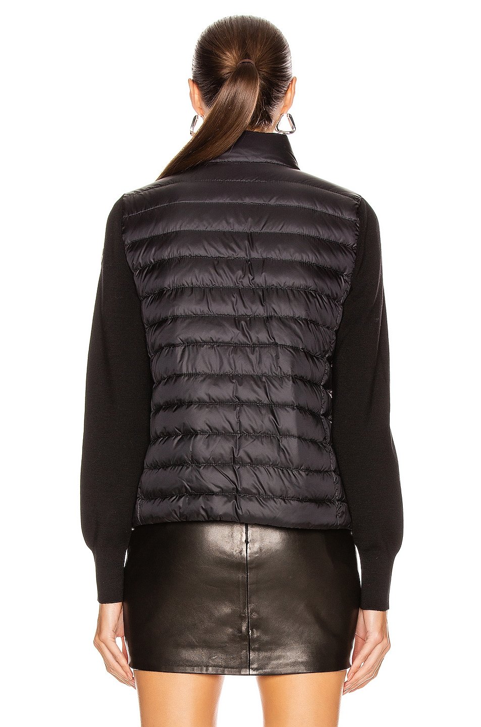 Image 5 of Moncler Cardigan Tricot Jacket in Black