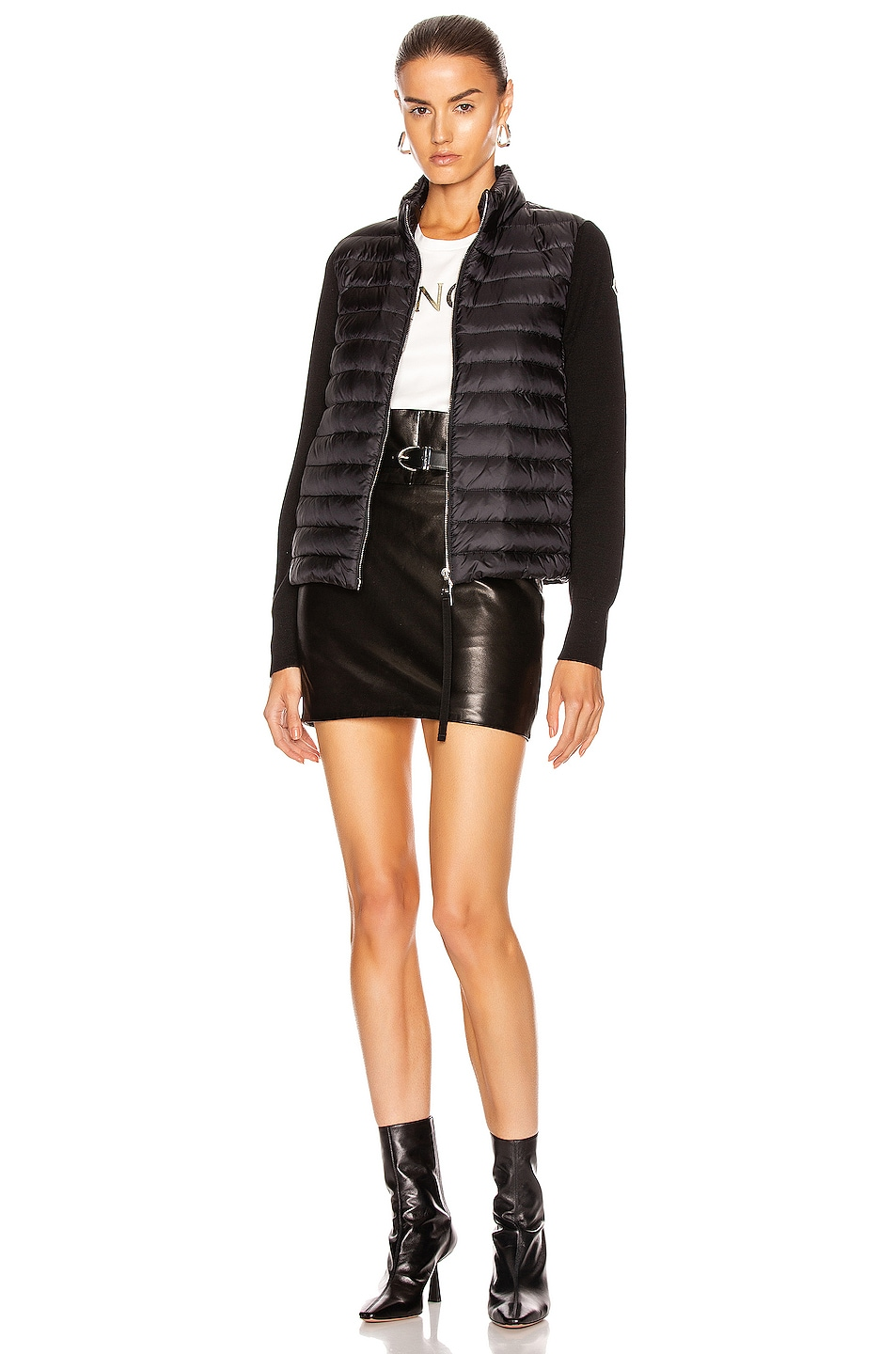 Image 6 of Moncler Cardigan Tricot Jacket in Black
