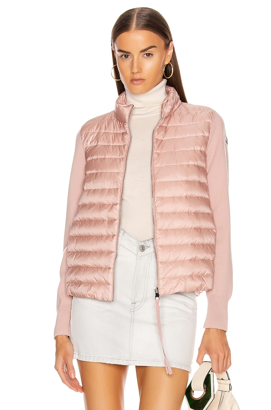 Image 1 of Moncler Cardigan Tricot Jacket in Blush