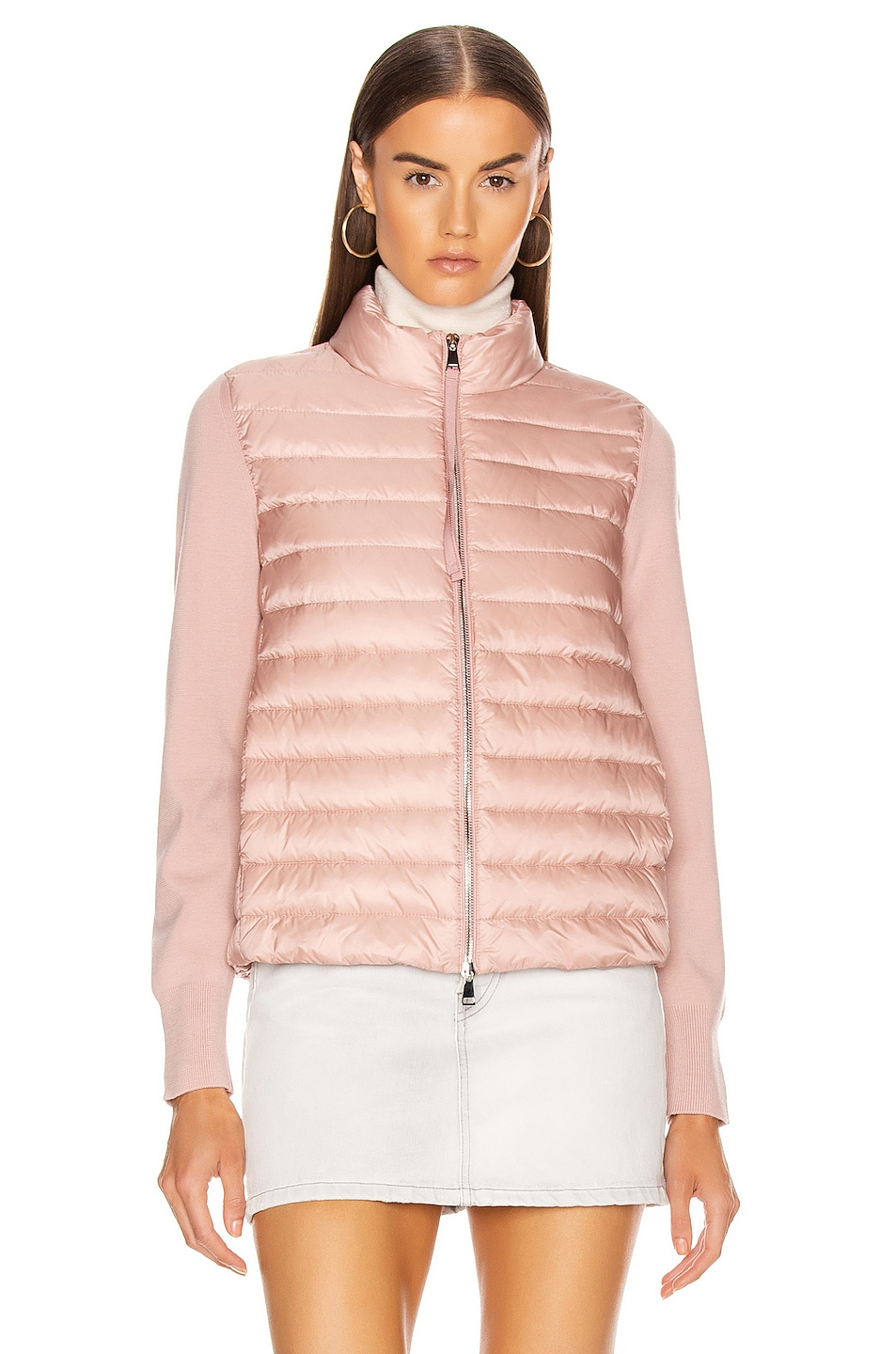 Image 2 of Moncler Cardigan Tricot Jacket in Blush