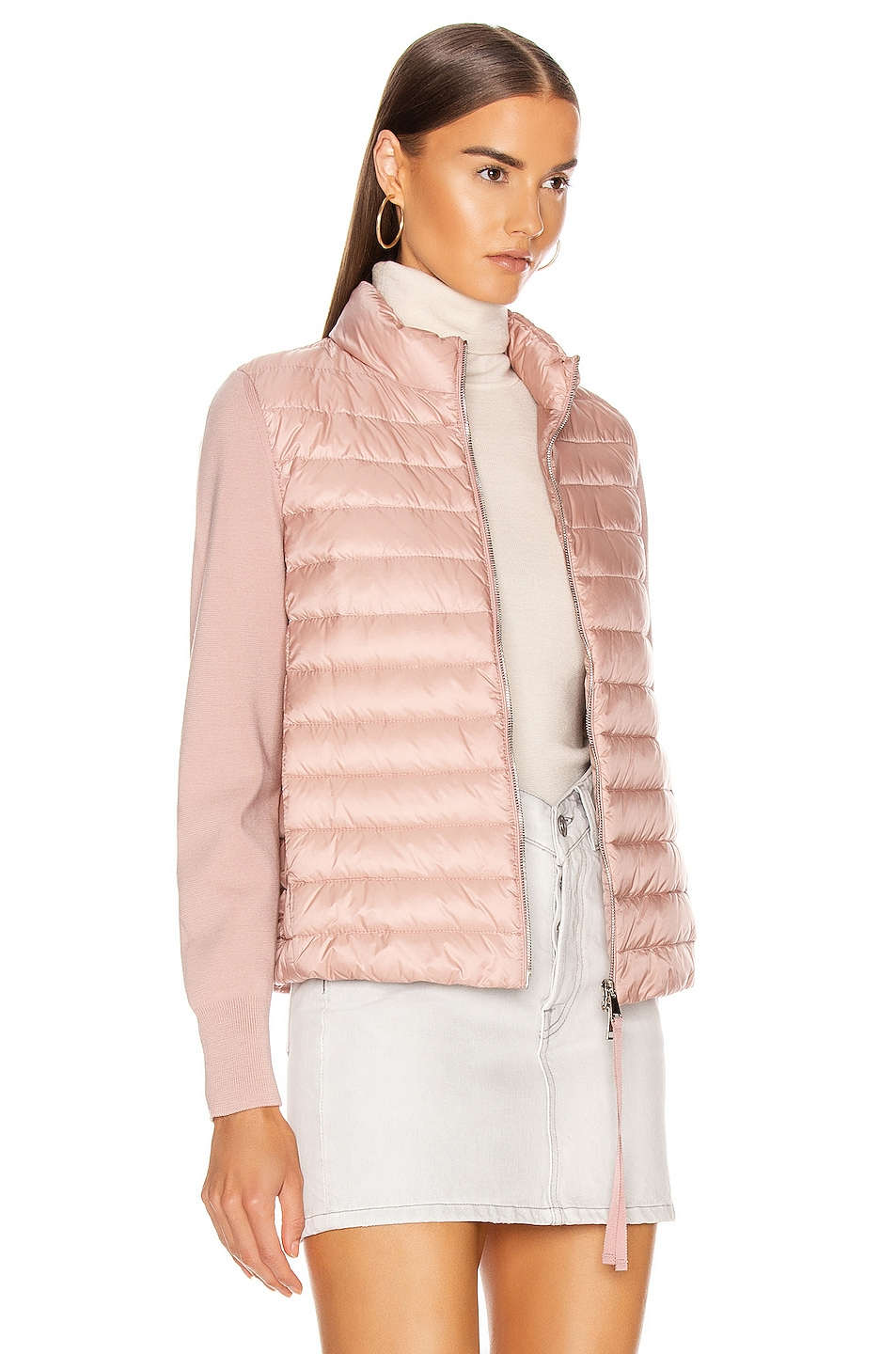 Image 3 of Moncler Cardigan Tricot Jacket in Blush