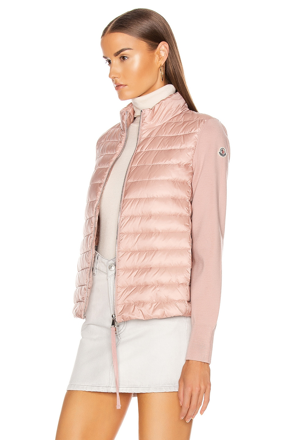 Image 4 of Moncler Cardigan Tricot Jacket in Blush