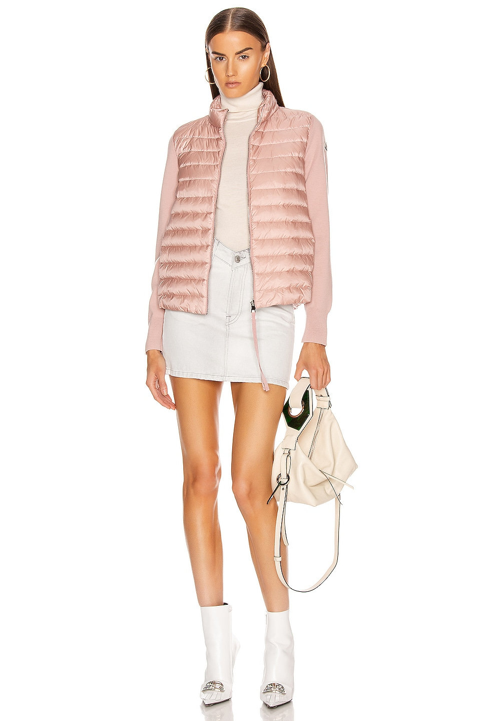 Image 6 of Moncler Cardigan Tricot Jacket in Blush