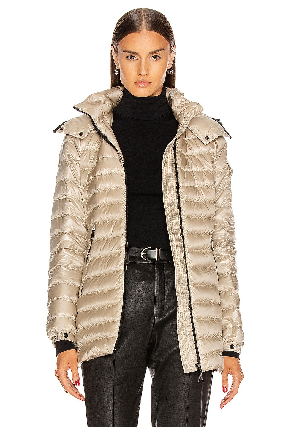 Image 1 of Moncler Menthe Giubbotto Jacket in Champagne