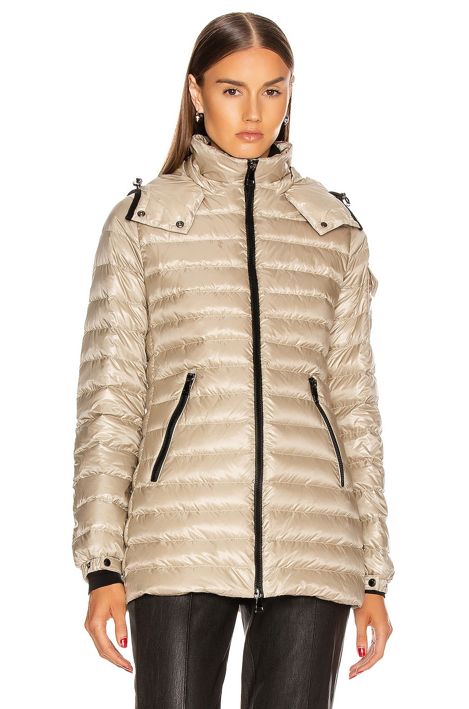 Image 2 of Moncler Menthe Giubbotto Jacket in Champagne