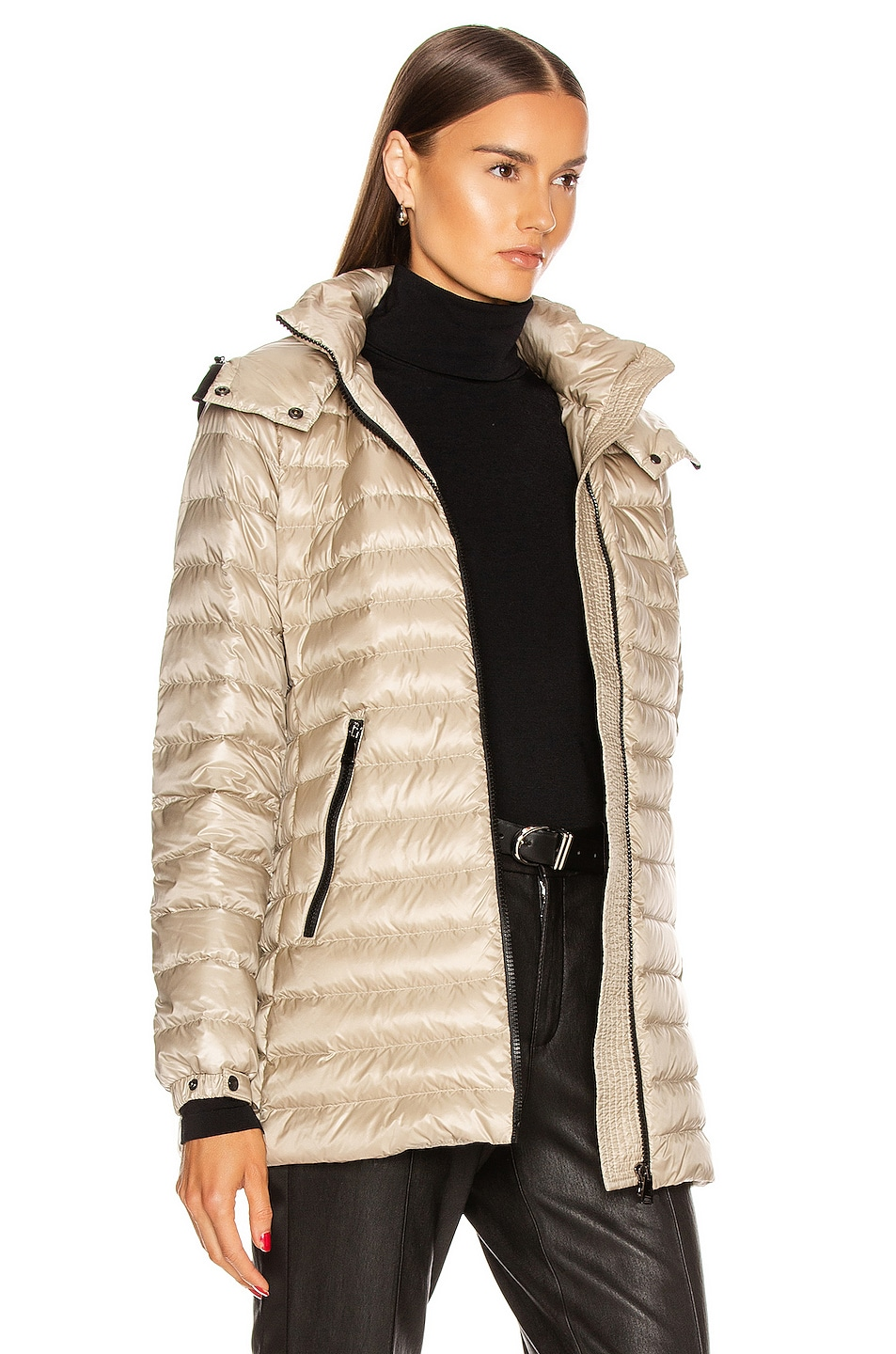 Image 3 of Moncler Menthe Giubbotto Jacket in Champagne