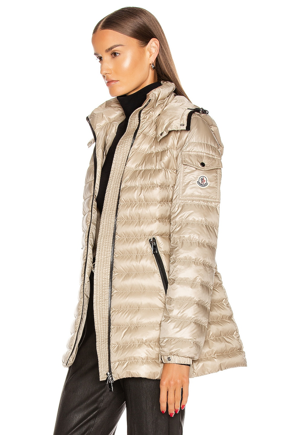 Image 4 of Moncler Menthe Giubbotto Jacket in Champagne