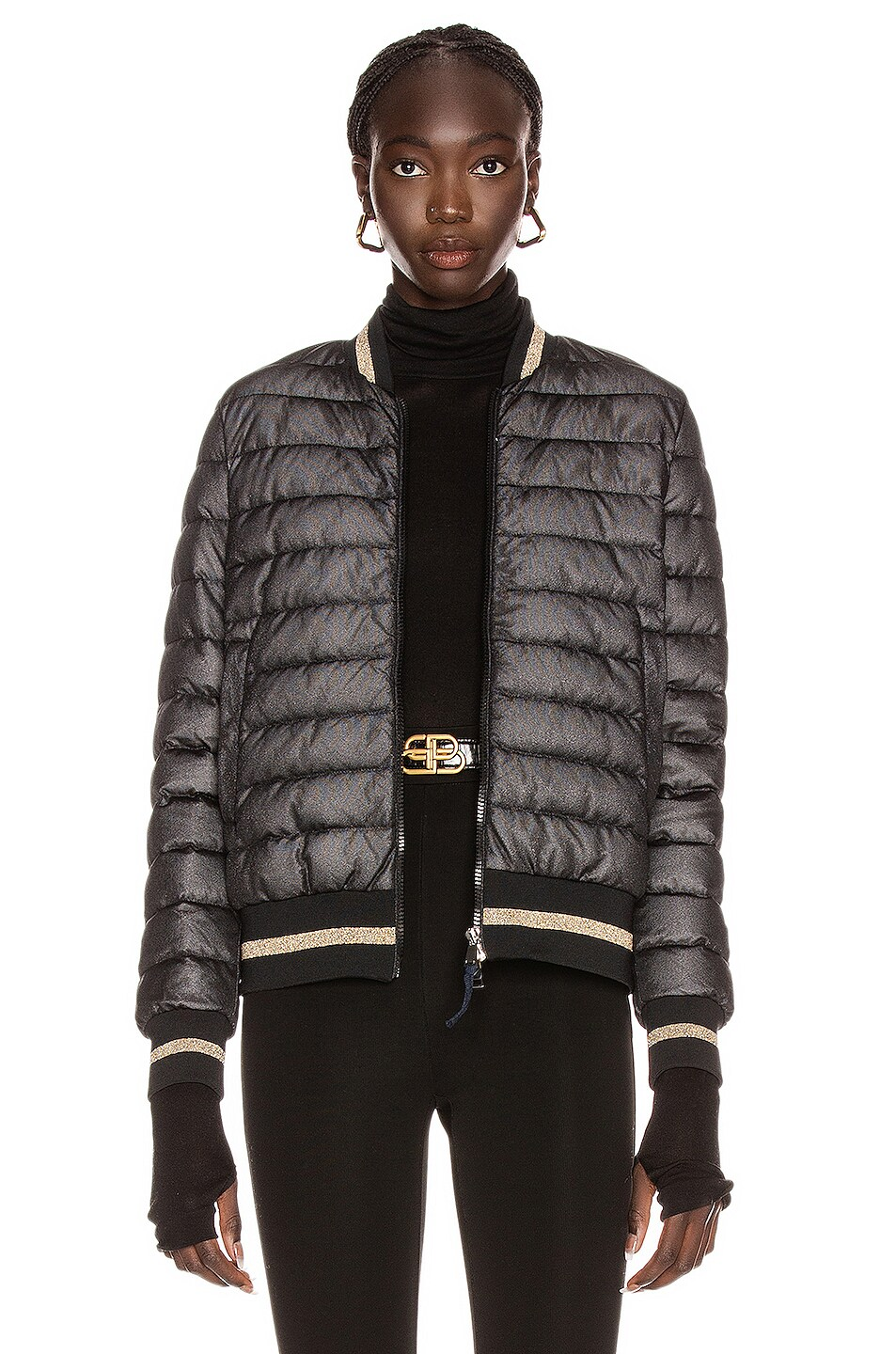 Image 1 of Moncler Or Giubbotto Jacket in Black