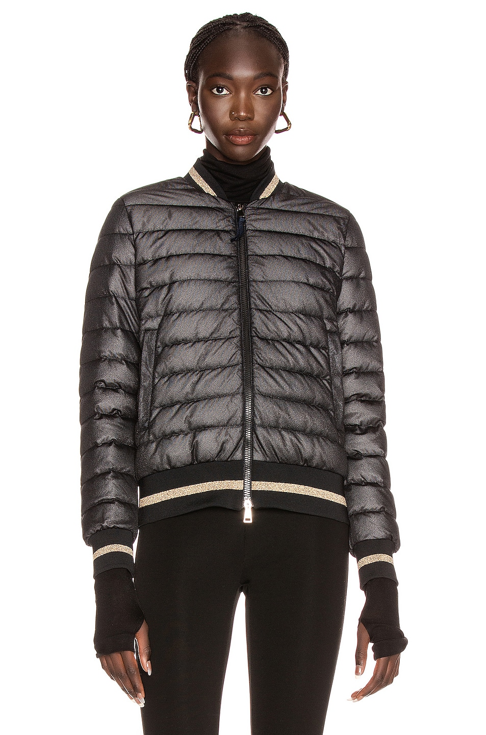 Image 2 of Moncler Or Giubbotto Jacket in Black