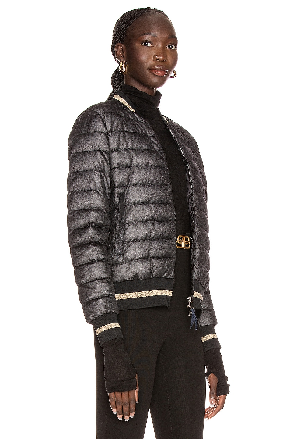 Image 3 of Moncler Or Giubbotto Jacket in Black