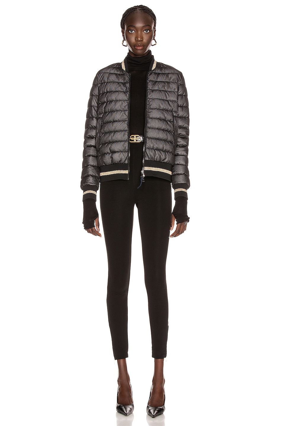 Image 5 of Moncler Or Giubbotto Jacket in Black