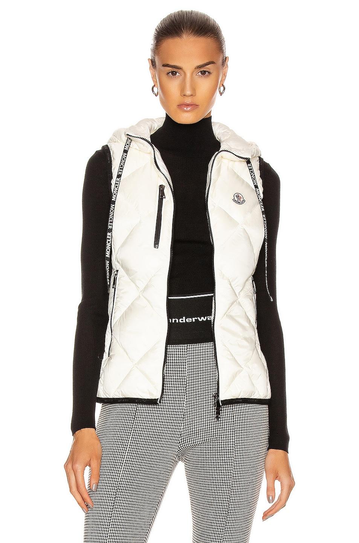 Image 1 of Moncler Sucrex Gilet Vest in Ivory