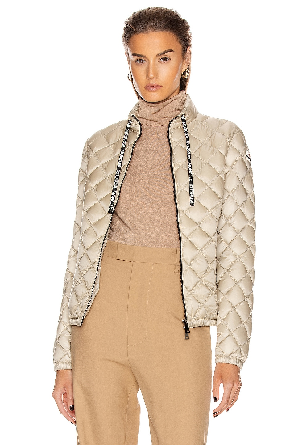 Image 1 of Moncler Lan Giubbotto Jacket in Champagne